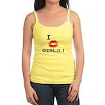 I Kiss Girls! Jr. Spaghetti Tank