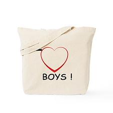 I Love Boys! Tote Bag