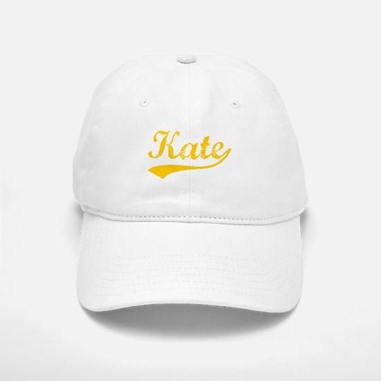 Vintage Kate (Orange) Baseball Baseball Cap