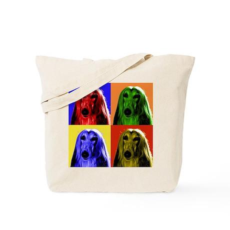 Afghan Hound Color Blocks Tote Bag