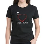 I Love Boys and Girls! Women's Dark T-Shirt