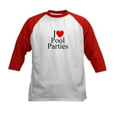 """I Love (Heart) Pool Parties"" Tee"