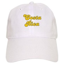 Retro Costa Rica (Gold) Baseball Cap