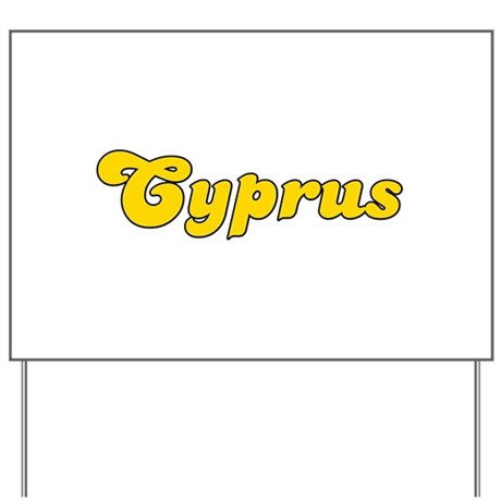 Retro Cyprus (Gold) Yard Sign