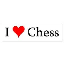 I Love Chess Bumper Bumper Sticker