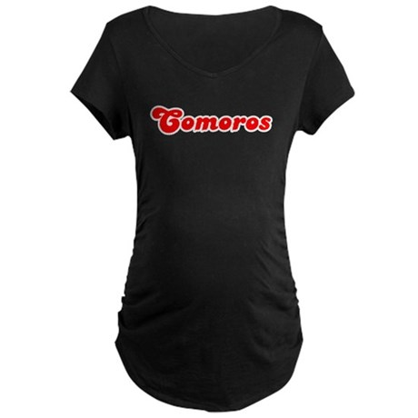 Retro Comoros (Red) Maternity Dark T-Shirt