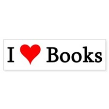 I Love Books Bumper Bumper Sticker