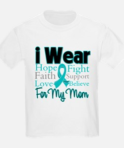 Mom - Ovarian Cancer T-Shirt