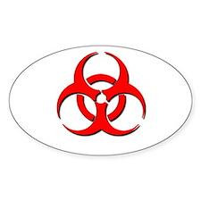 Biohazard Symbol Oval Decal