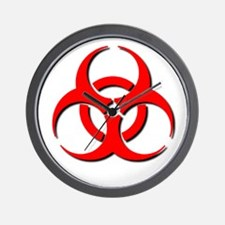 Biohazard Symbol Wall Clock