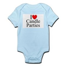 """I Love (Heart) Candle Parties"" Onesie"