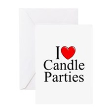 """I Love (Heart) Candle Parties"" Greeting Card"