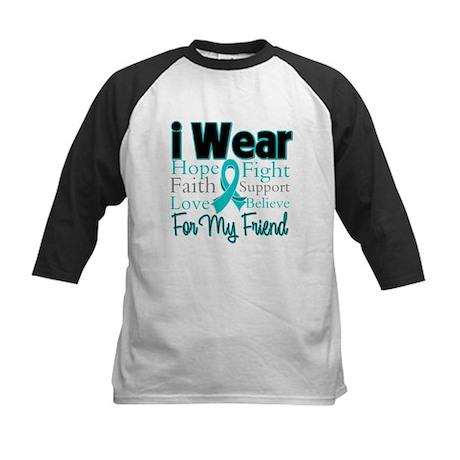 Friend Ovarian Cancer Kids Baseball Jersey