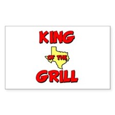 King of the Hill Rectangle Decal