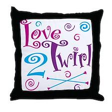 Love 2 Twirl Throw Pillow