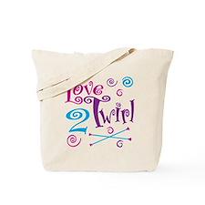 Love 2 Twirl Tote Bag