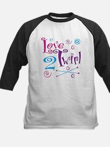 Love 2 Twirl Kids Baseball Jersey