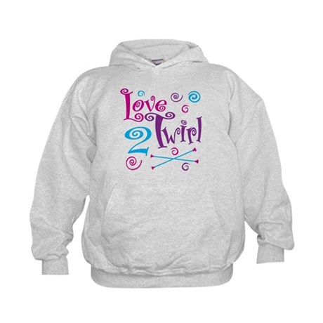 Love 2 Twirl Kids Hoodie