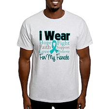 I Wear Teal Fiancee T-Shirt