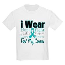 I Wear Teal Cousin v1 T-Shirt