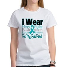 I Wear Teal Best Friend Tee