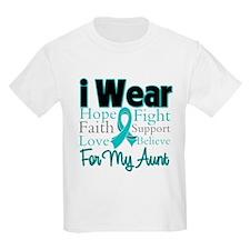 I Wear Teal Aunt v3 T-Shirt