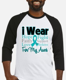 I Wear Teal Aunt v3 Baseball Jersey