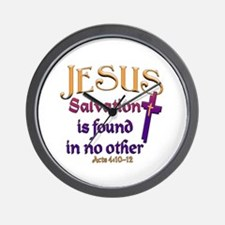 Jesus, Salvation in no other Wall Clock