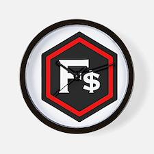 F$ Red Wall Clock