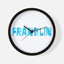 Franklin Faded (Blue) Wall Clock