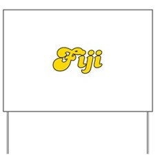 Retro Fiji (Gold) Yard Sign