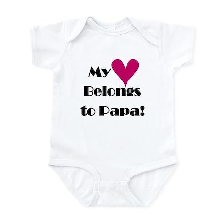 My Heart Belongs to Papa Infant Bodysuit