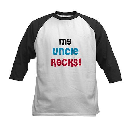My Uncle Rocks Kids Baseball Jersey