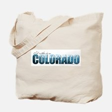 rather be in Colorado (blue) Tote Bag