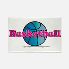 Basketball PkBl Rectangle Magnet