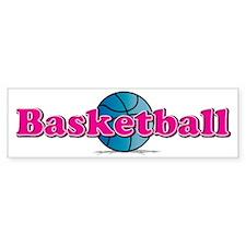 Basketball PkBl Bumper Bumper Sticker
