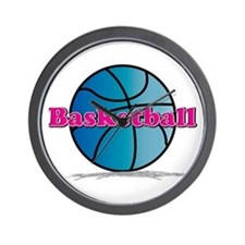 Basketball PkBl Wall Clock