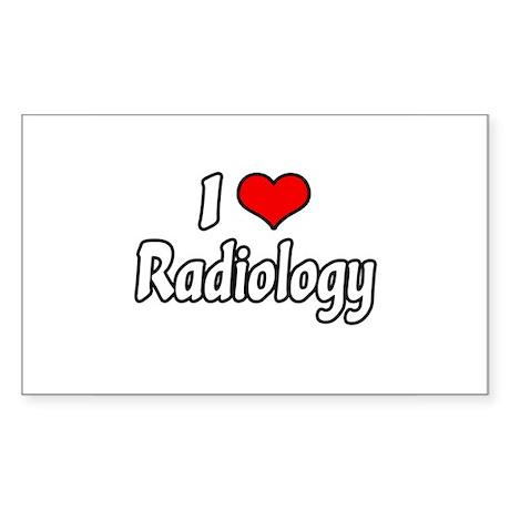 """I Love Radiology"" Rectangle Sticker"