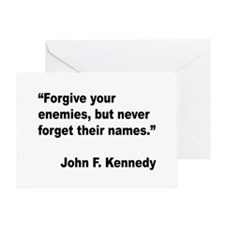 Kennedy Forgive Enemies Quote Greeting Card