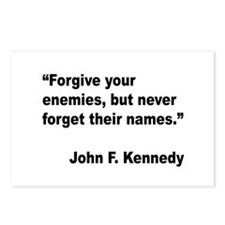 Kennedy Forgive Enemies Quote Postcards (Package o