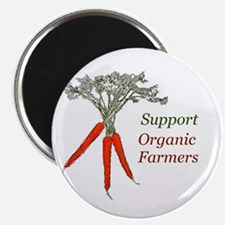 "Support Organic Farmers 2.25"" Magnet (10 pack"
