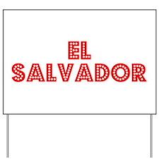 Retro El Salvador (Red) Yard Sign