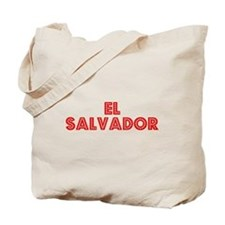 Retro El Salvador (Red) Tote Bag