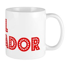 Retro El Salvador (Red) Mug