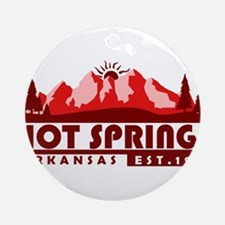 Hot Springs - Arkansas Round Ornament
