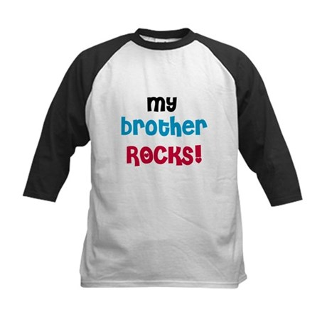 My Brother Rocks Kids Baseball Jersey