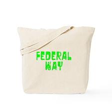 Federal Way Faded (Green) Tote Bag