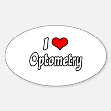 """I Love Optometry"" Oval Decal"