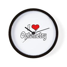 """I Love Optometry"" Wall Clock"