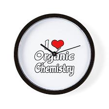 """I Love Organic Chemistry"" Wall Clock"